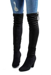 Call It Spring Qeiven Black Sock Heeled Over The Knee Boots £90