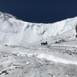 Fig. 18 – Approaching crampon point with the North Col ice wall in background