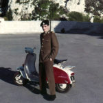 Soldier Boy alongside my beloved Red & White Lambretta 1970