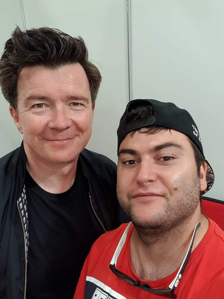 David Diaz and Rick Astley
