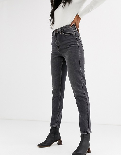 Mom jeans in washed black, Topshop, £40.00