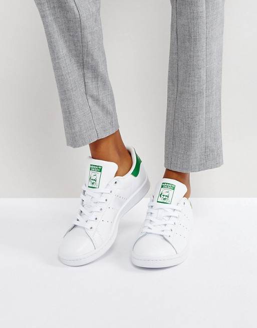 Stan Smith trainers in white and green, Adidas Originals, £75.00