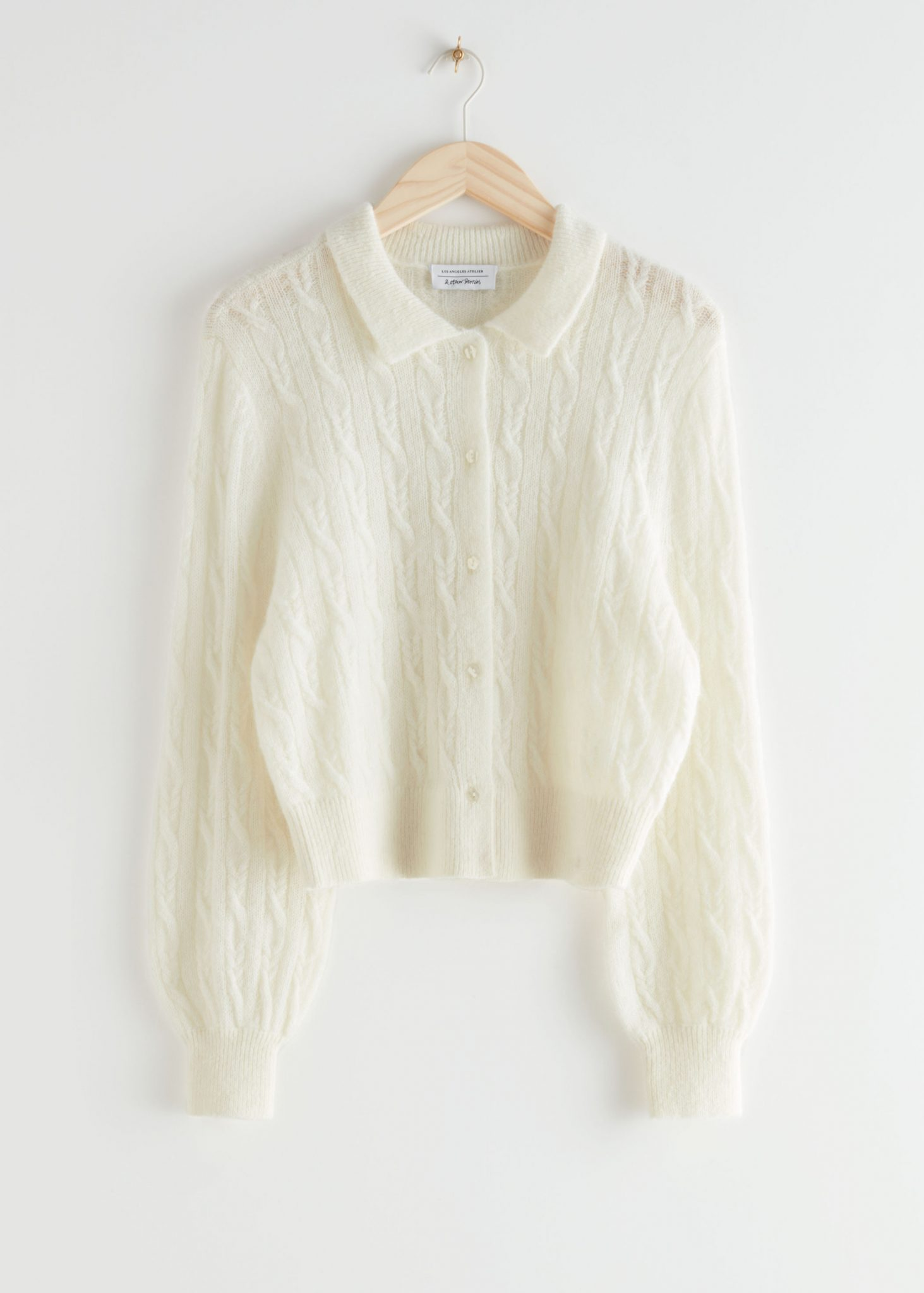 Alpaca Blend Cable Knit Cardigan, & Other Stories, £65.00