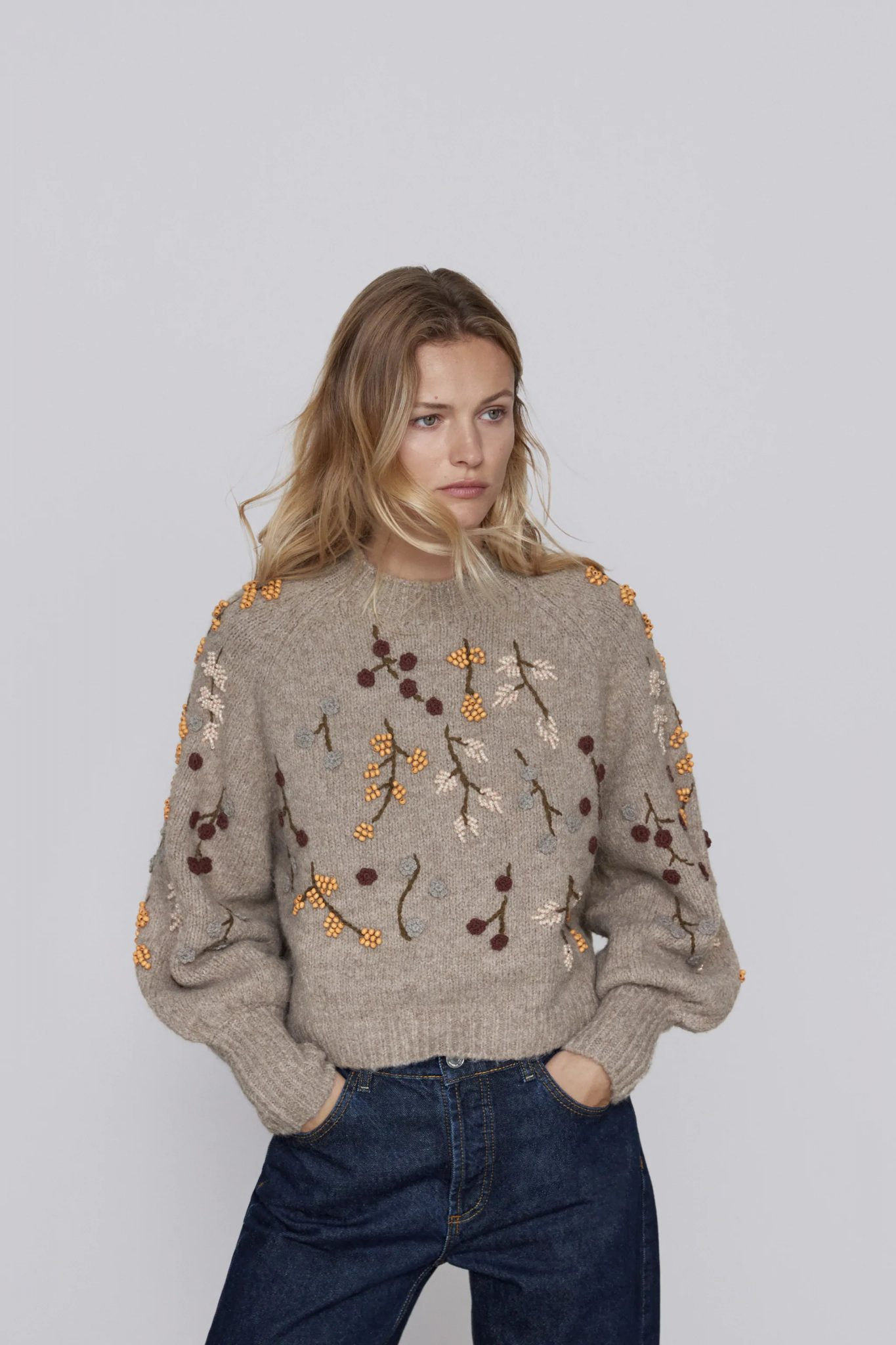 Wool Blend Scalloped Sweater, & Other Stories, £85.00