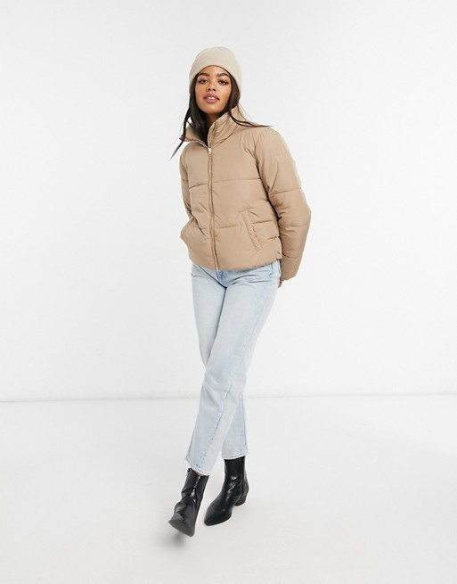 Quilted padded jacket in tan, JDY, £38.00