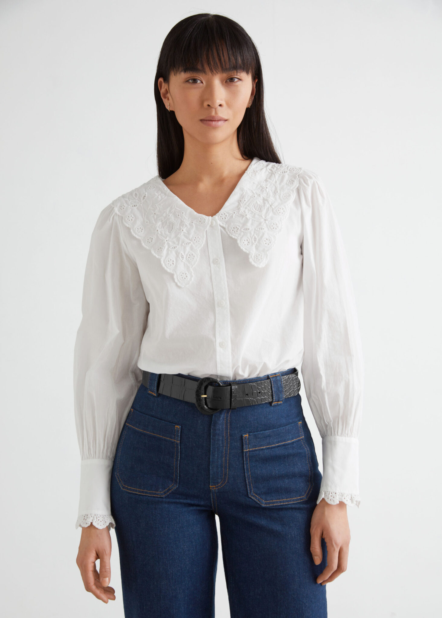 Embroidered Statement Collar Blouse, & Other Stories, £65.00