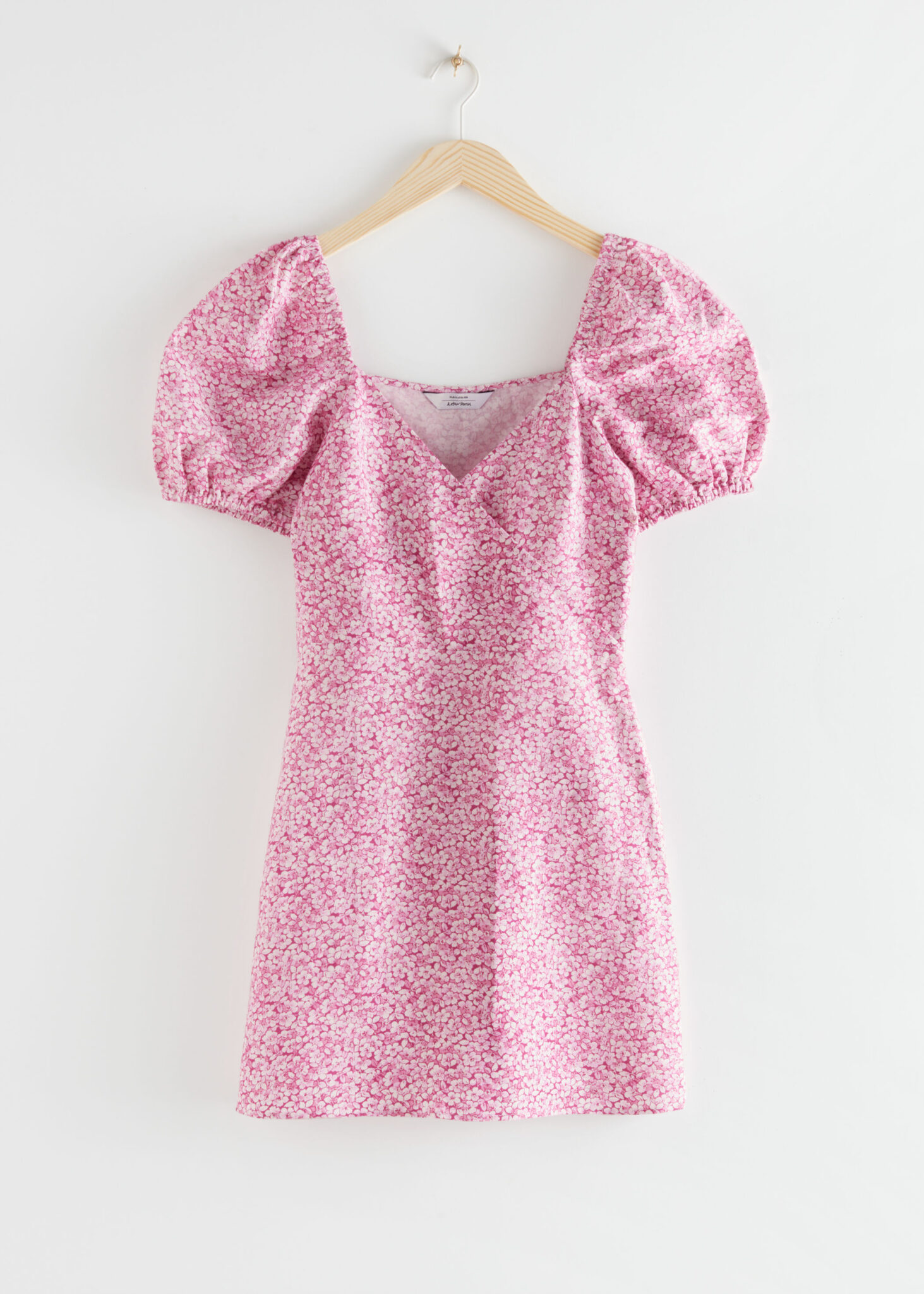 Fitted Puff Sleeve Mini Dress, & Other Stories, £55.00
