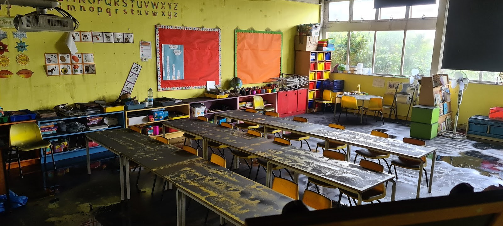 One-of-the-classrooms-with-water-and-smoke-damage