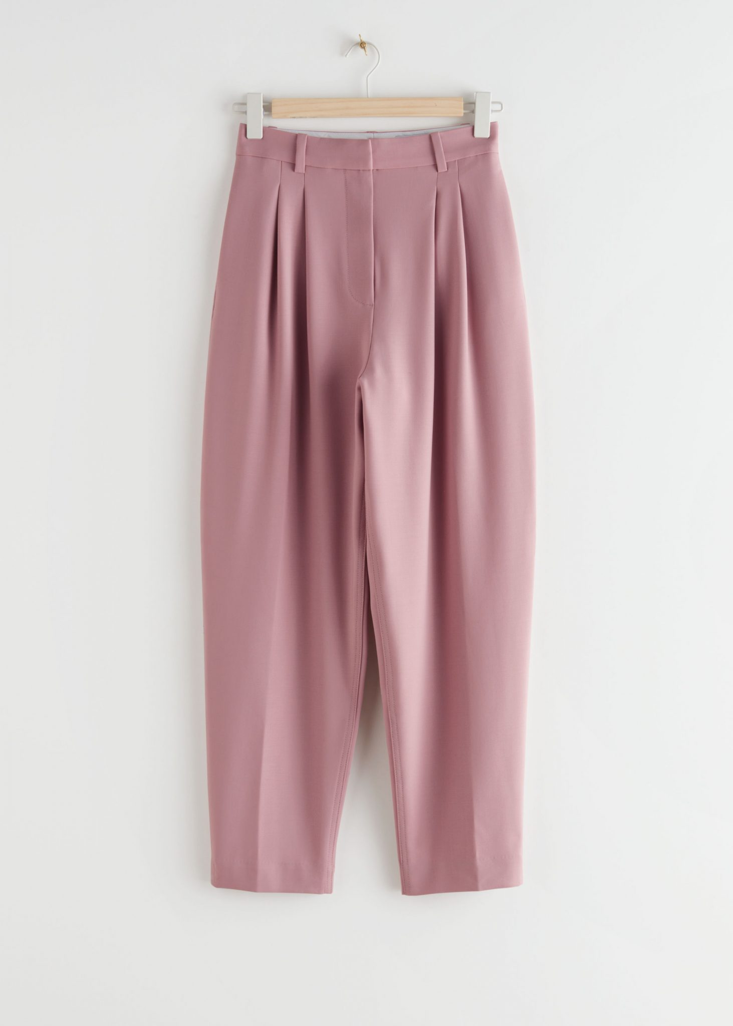 Tapered Wool Blend Trousers, & Other Stories, £95.00