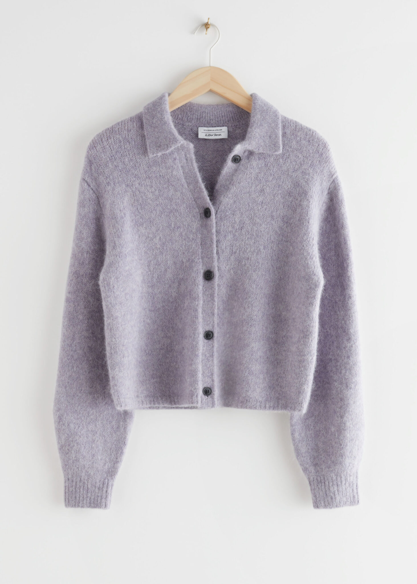 Collared Alpaca Blend Cardigan, & Other Stories, £65.00